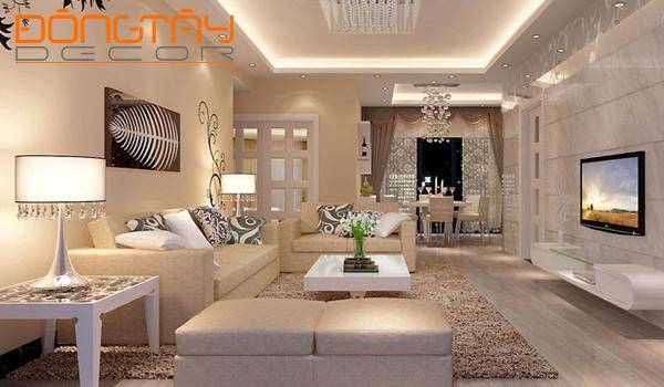 Với một căn phòng rộng bạn nên lựa chọn đồ trang trí có kích thước lớn
