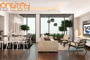 Với một căn phòng có không gian rộng, bạn kê đồ vật có một khoảng cách với tường để bớt cảm giác trống trải