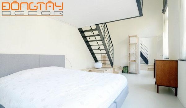Phòng ngủ thiết kế đơn giản, màu sắc nhã nhặn.