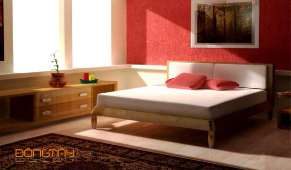 Mẫu phòng ngủ với tông màu chủ đạo là đỏ và trắng #3