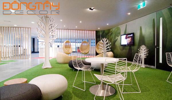 Nội thất văn phòng hiện đại với nhiều chất kiệu, kết cấuthể hiện được phong cách, cá tính riêng