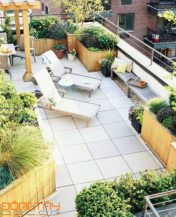 """Mẫu thiết kế """"Khu vườn trên mây"""" - Khu vườn được xây dựng trên nóc của tòa nhà cao tầng."""