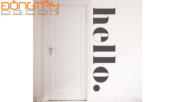 Trang trí tường với decal bằng chữ tạo ra sự mới mẻ, thú vị cho ngôi nhà trong năm mới