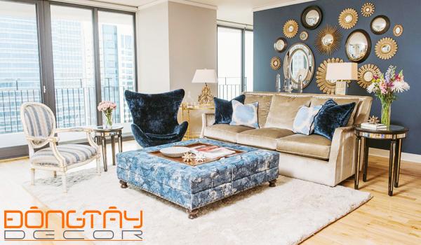 Vải và thảm lông thú làchất liệu được ưa chuộng để trang trí nhà trong năm 2016, phòng khách sẽ trở nên ấm cúng và thu hút hơn.