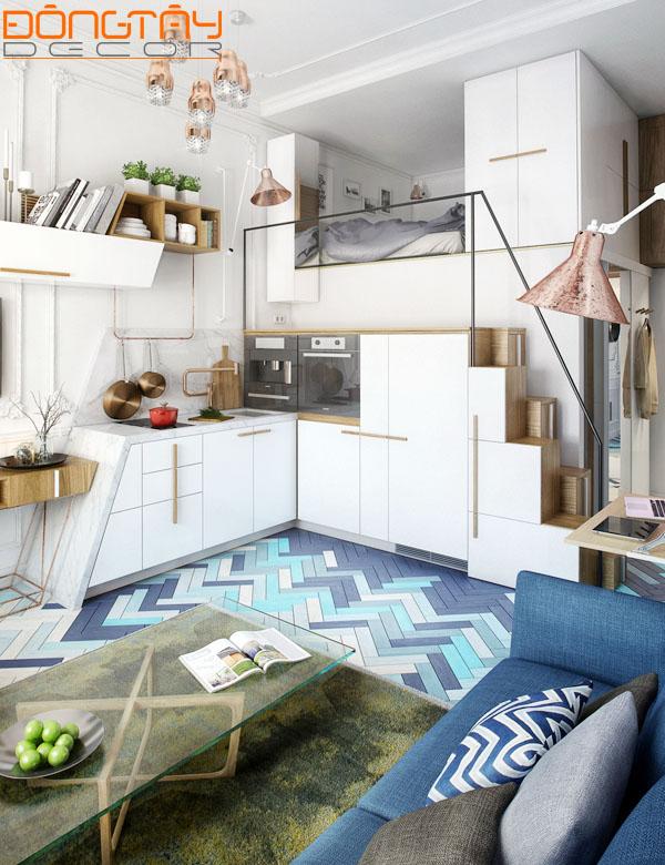 Sự tỉ mỉ trong cách lựa chọn đồ vật, họa tiết và cách sắp xếp khiến căn hộ vô cùng thu hút