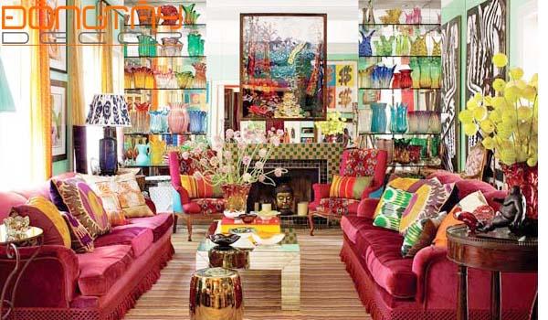 Tự do về màu sắc, hình, chất liệu, kích thước là đặc trưng của phong cách Chiết Trung